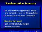 randomization summary