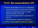 tasc recommendation 103