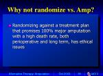 why not randomize vs amp
