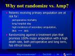 why not randomize vs amp87