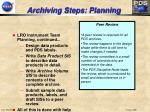 archiving steps planning7
