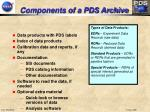 components of a pds archive