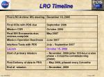 lro timeline