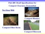 pub 408 draft specifications for compost clearance transmittal