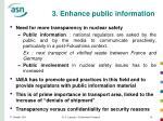 3 enhance public information