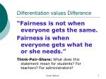 differentiation values difference