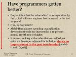 have programmers gotten better