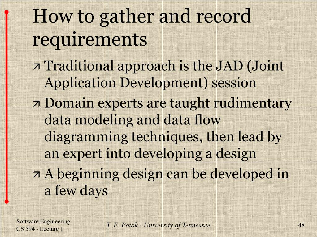 How to gather and record requirements