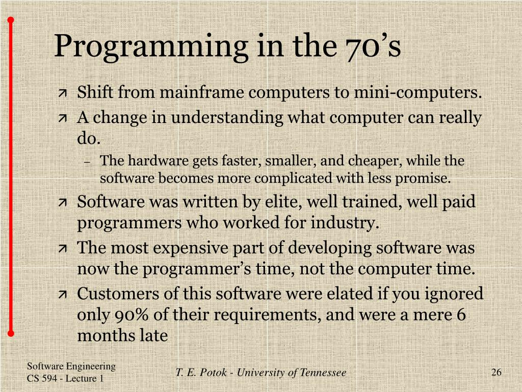 Programming in the 70's