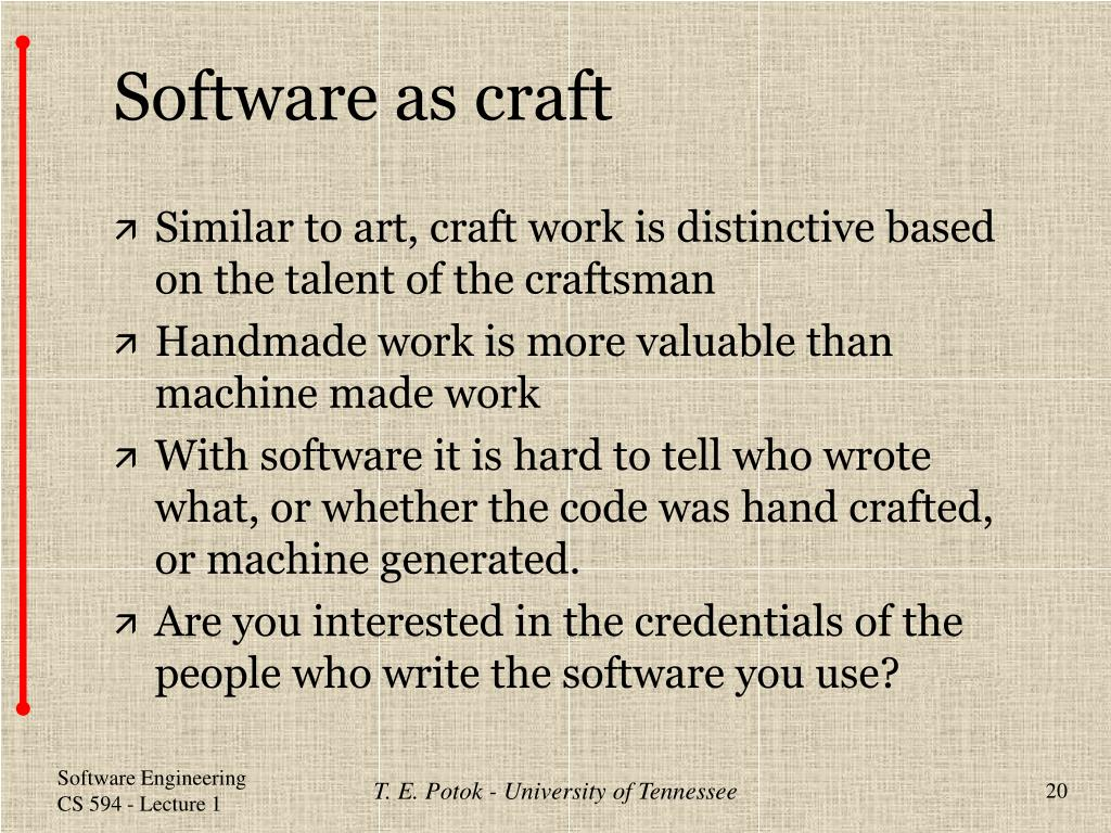 Software as craft