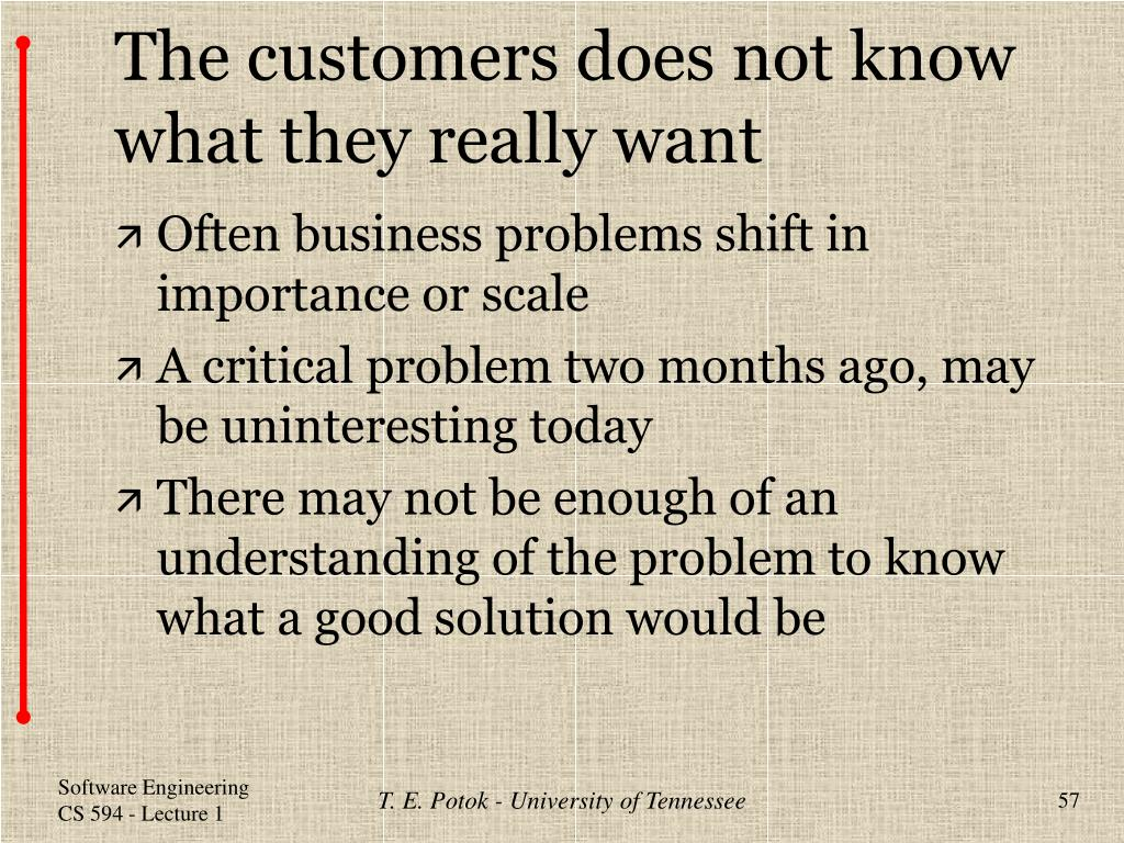 The customers does not know what they really want