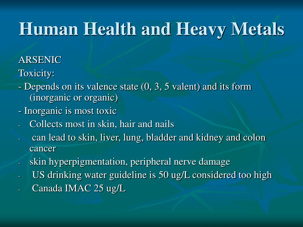 Human Health and Heavy Metals