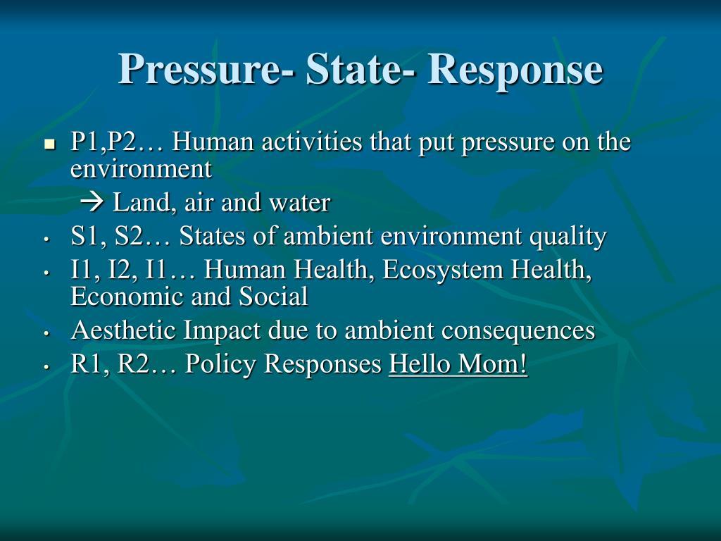 Pressure- State- Response