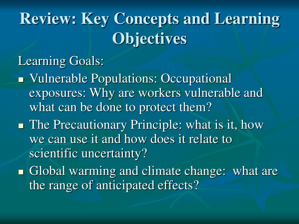 Review: Key Concepts and Learning Objectives