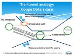 the funnel analogy coope dota s case