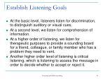 establish listening goals