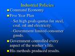 industrial policies