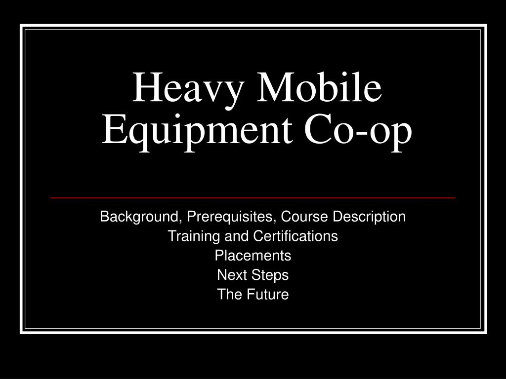 heavy mobile equipment co op l.