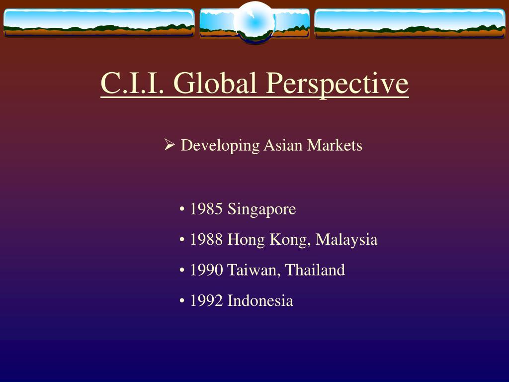 C.I.I. Global Perspective