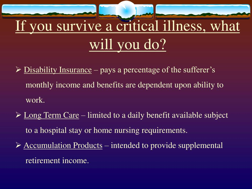 If you survive a critical illness, what will you do?