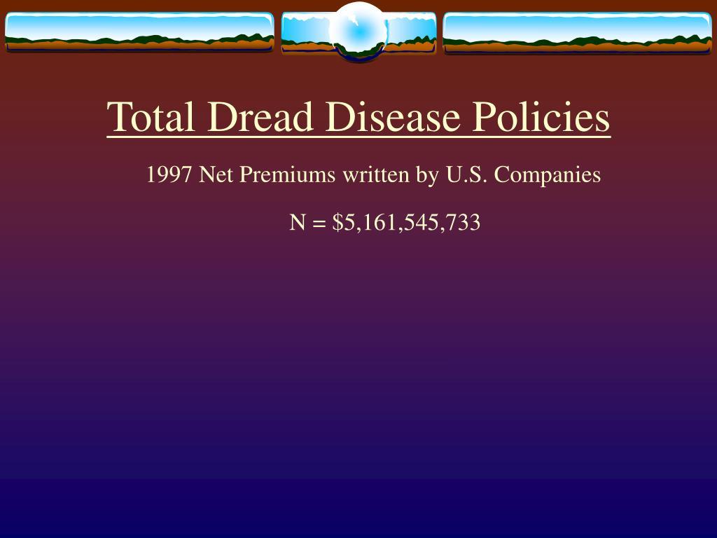 Total Dread Disease Policies