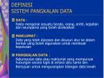 definisi sistem pangkalan data
