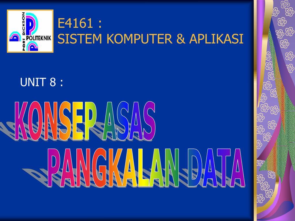 e4161 sistem komputer aplikasi l.