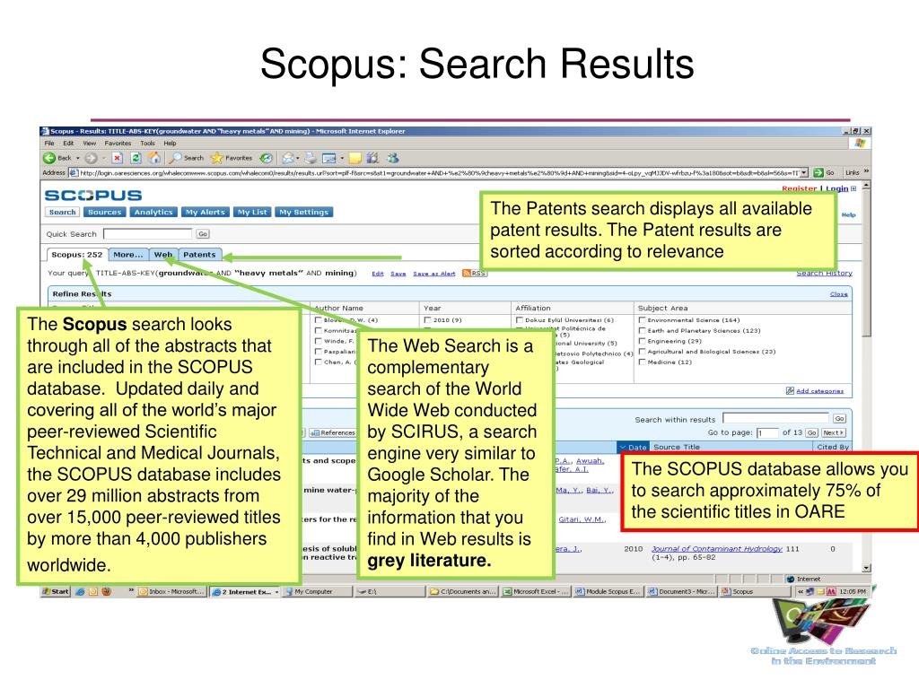 Scopus: Search Results
