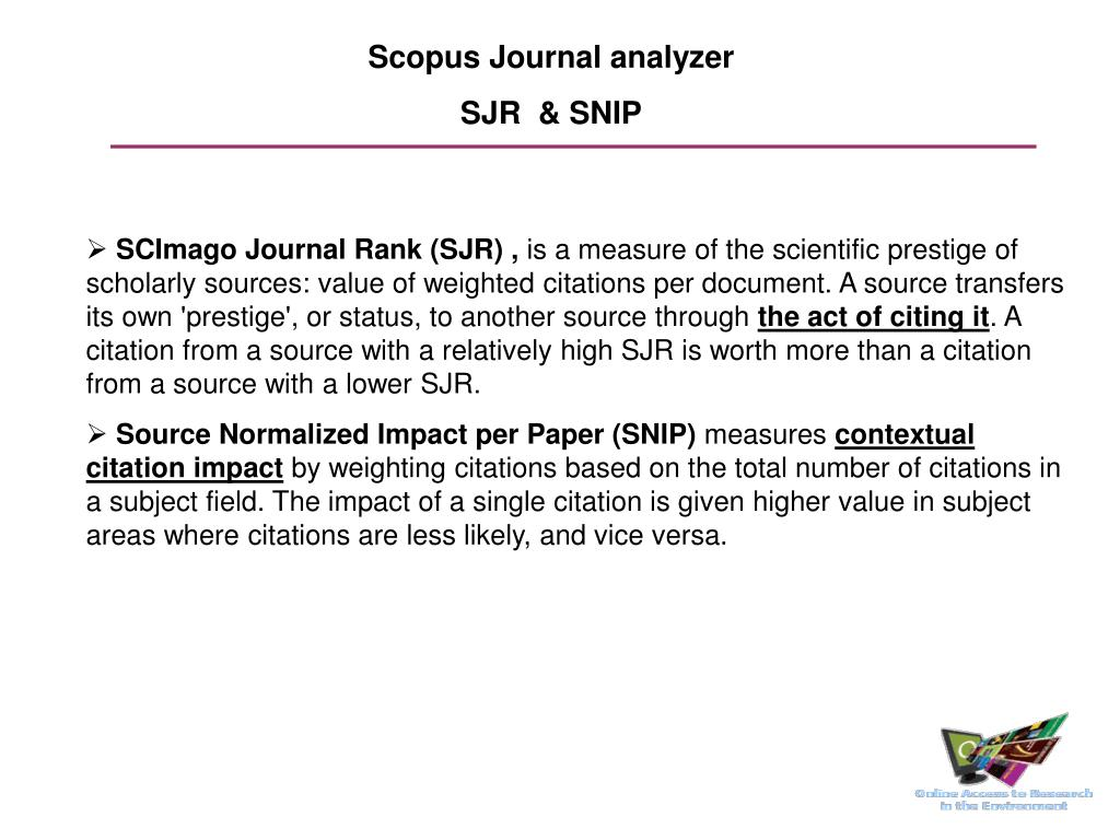 Scopus Journal analyzer