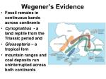 wegener s evidence
