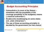 budget accounting principles
