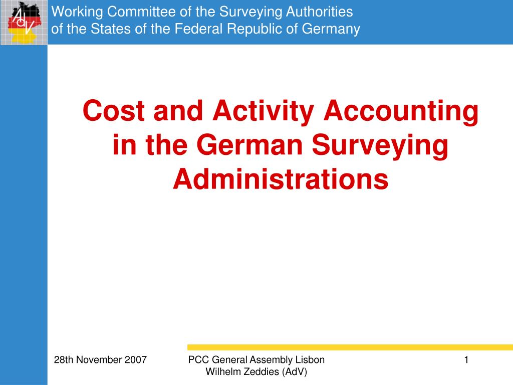 cost and activity accounting in the german surveying administrations l.