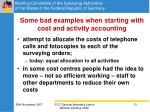 some bad examples when starting with cost and activity accounting