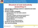 structure of cost and activity accounting 1