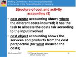 structure of cost and activity accounting 3