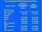 consolidated development plan