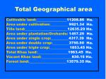 total geographical area