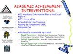 academic achievement interventions