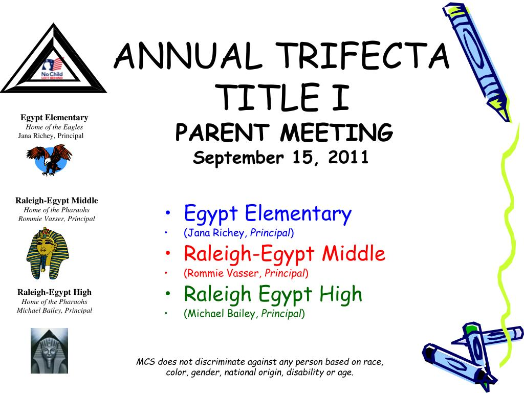 annual trifecta title i parent meeting september 15 2011 l.