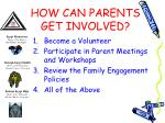 how can parents get involved