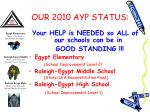 our 2010 ayp status