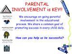 parental involvement is key