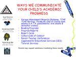 ways we communicate your child s academic progress