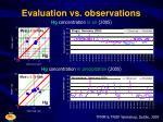 evaluation vs observations13