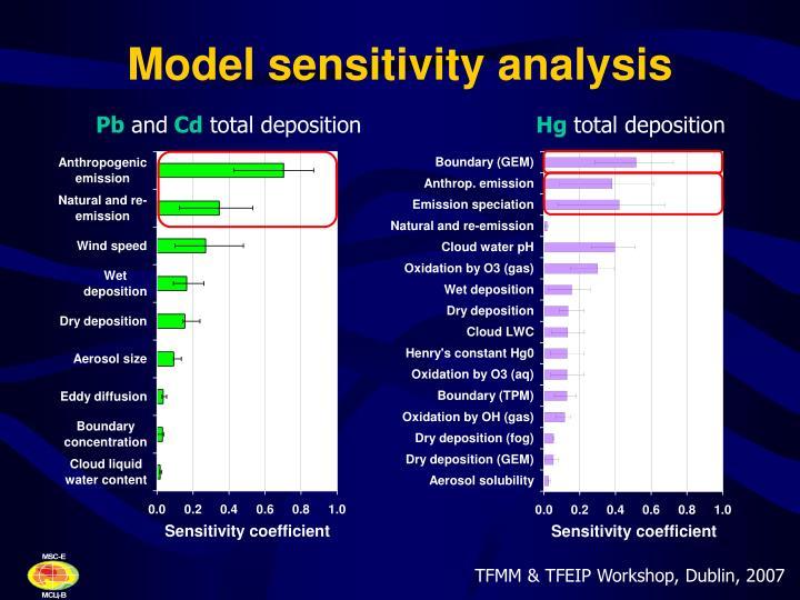 Model sensitivity analysis