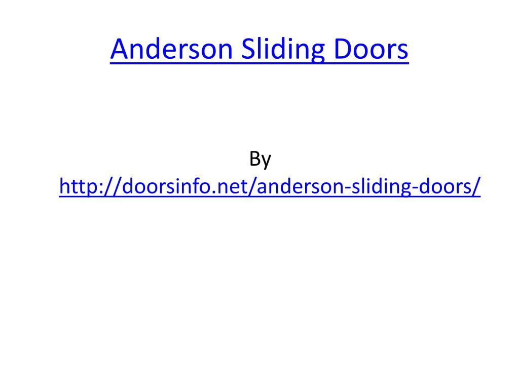 anderson sliding doors l.