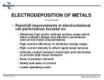 electrodeposition of metals continued