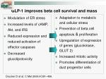 glp 1 improves beta cell survival and mass