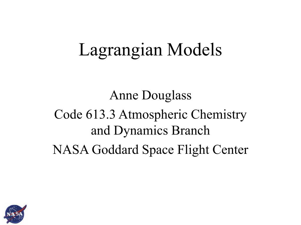 lagrangian models l.