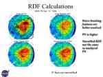 rdf calculations
